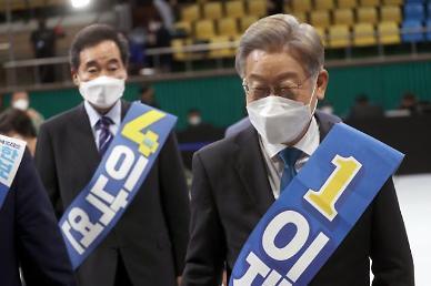 [與 대선 경선] '대장동 특혜' 논란에도 이재명, 호남경선 과반 유지