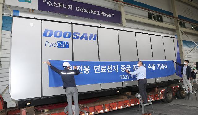 韩国首次对华出口发电用氢燃料电池  规模约达8397万元