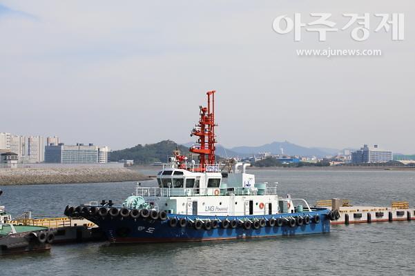 인천항만공사, 국내 최초 LNG 연료추진 예선인 '송도호' 취항
