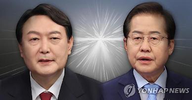 국힘 尹·洪 누가 나와도 이재명에 압승...두 후보 모두 10%포인트 격차