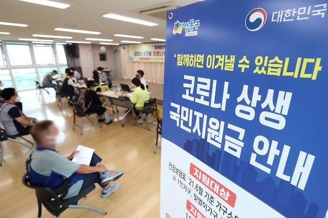 국민지원금 신청 23일간 대상자 95.5% 지급