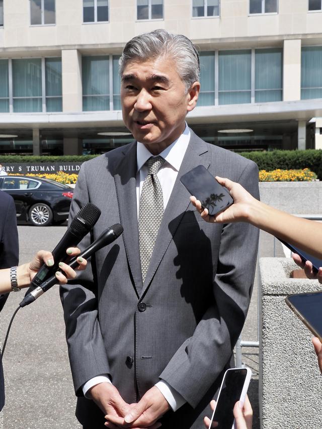 """성 김 """"北 미사일 주변국 위협...비핵화 의지 안 변해"""""""