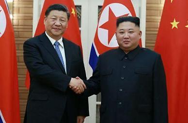 김정은, 시진핑에 축전...중화민족 부흥의 꿈은 반드시 실현
