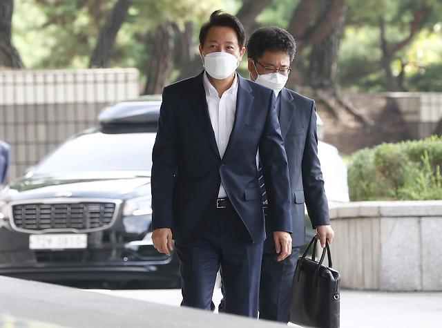 오세훈 서울시장, 허위사실 공표 검찰 출석