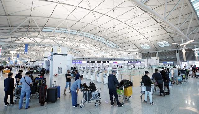 韩国内航线旅客运输量持续走低 海外游或年底迎来复苏