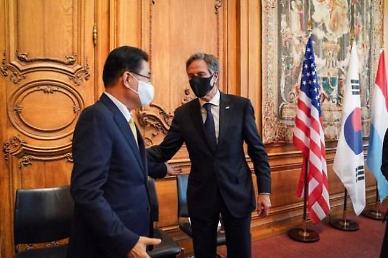 한·미 외교장관, 2주만에 회동...종전선언 긴밀 소통