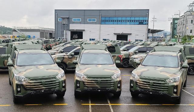 쌍용차, 국군 지휘차량으로 더 뉴 렉스턴 스포츠 700대 공급