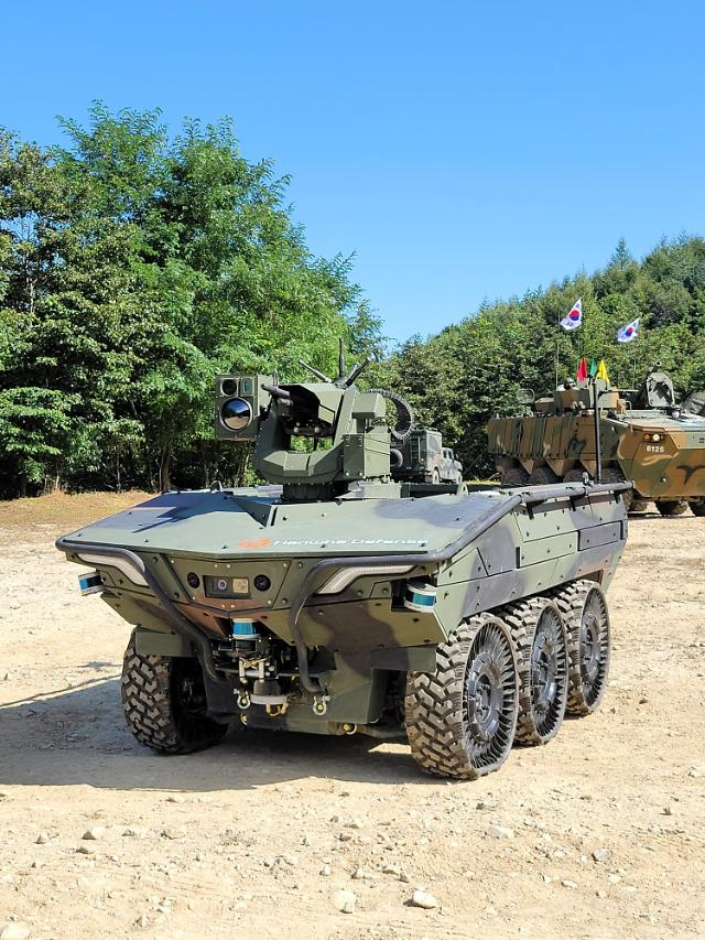 Hanwha Defense starts test operation of military intelligent unmanned ground vehicle