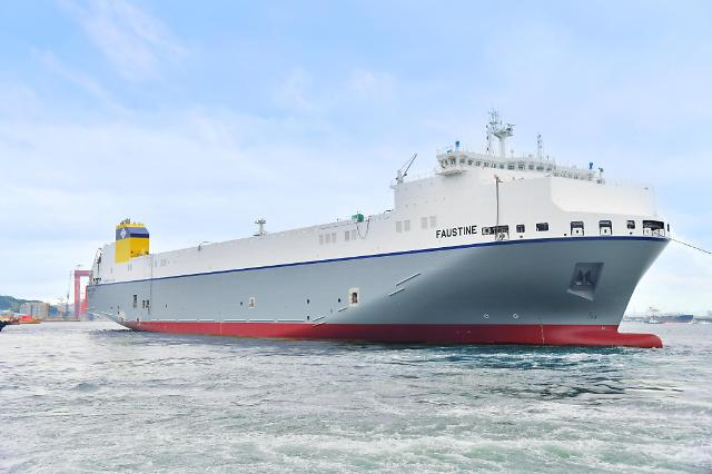 Hyundai Mipo delivers CldNs RORO ship equipped with dual fuel propulsion system