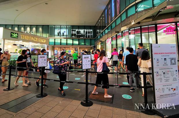 [NNA] 싱가포르, 미접종자 상업시설 입장금지
