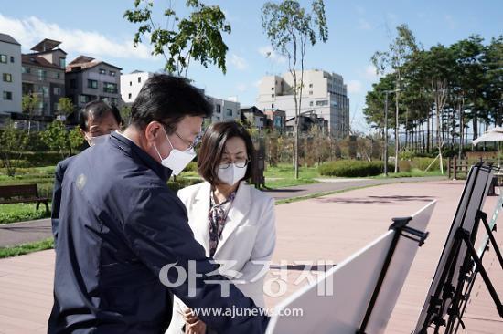 """은수미 성남시장, """"탄천·공원은 연결과 소통의 공간이다"""""""