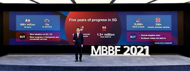 """켄 후 화웨이 순환 회장 """"5G 미래, 확장현실·B2B·친환경에 있어"""""""
