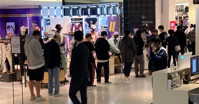 白山×优衣库联名在韩发售引发抢购