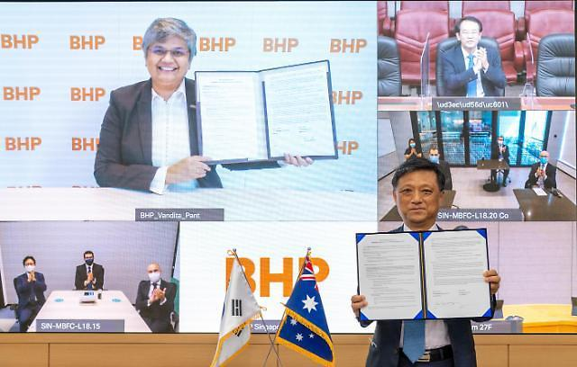 Australias BHP and POSCO agree to reduce coke consumption by using hydrogen