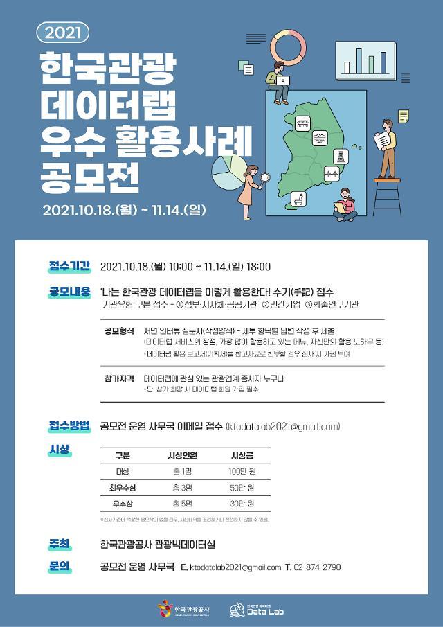 한국관광 데이터랩 우수 활용사례 찾는다