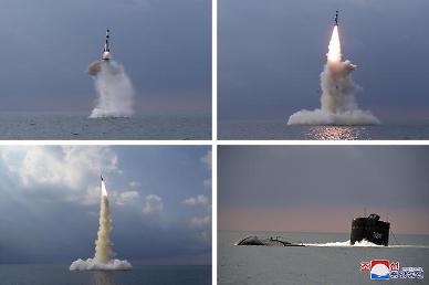 北 신형 SLBM 잠수함서 발사 확인…김정은 불참