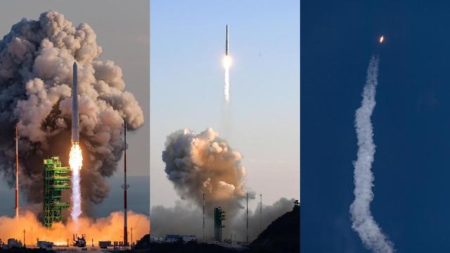 [슬라이드 화보] 첫 한국형 발사체 누리호 발사 순간