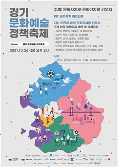 경기문화재단, 오는 26일 경기 문화예술 정책축제 종합토론회 개최