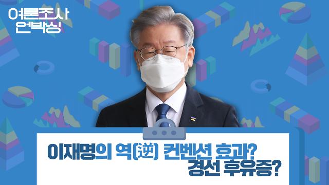 [여론조사 언박싱] 이재명의 역(逆) 컨벤션 효과? 경선 후유증?