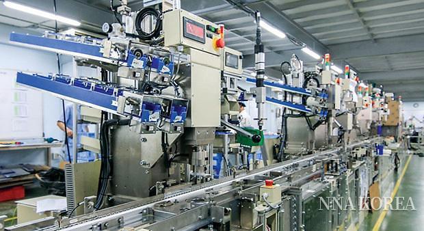 공장의 스마트화가 진행중인 태국 공장