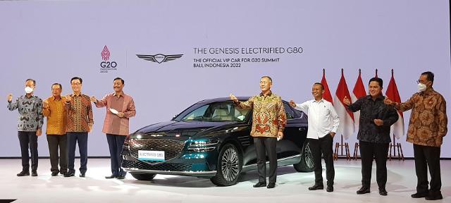 제네시스 G80 전동화, G20 발리 정상회담 의전차량 낙점