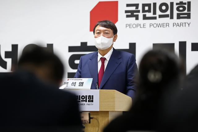 """윤석열 """"문-재명 잘못된 만남…대통령이 선거 캠페인 병풍"""""""