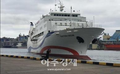 동해항 한러일페리(두원상선), 대러 수출용 생활용품 선적