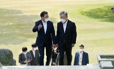"""이재명, '靑 백송' 보고 """"특이한 분이 심어""""…윤석열에 직격탄?"""