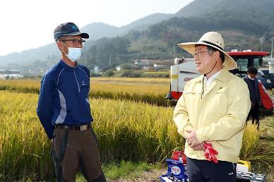 박일호 밀양시장, 본격적인 벼 수확철 영농 현장 격려