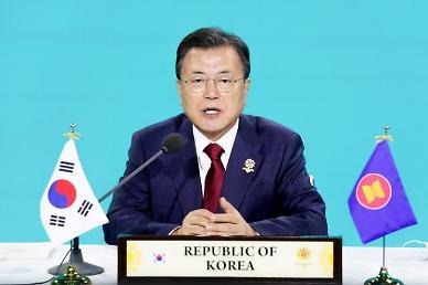 문 대통령, 동아시아정상회의 화상 참석…녹색회복 필요성 역설