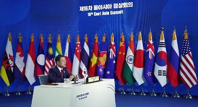 """文 """"종전선언, 세계평화 출발점""""…바이든 """"한반도 비핵화 노력"""""""